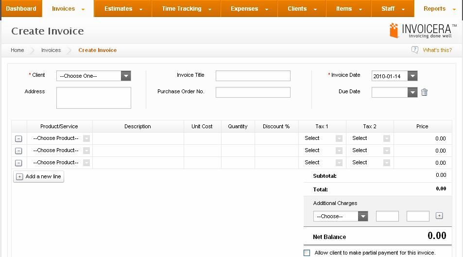 Invoicera- SaaS Tool For Invoice Billing Management Invoicera offers
