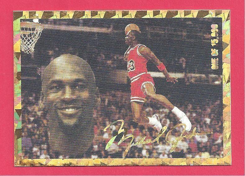 MICHAEL JORDAN VINTAGE BULLS BASKETBALL CARD GOLD
