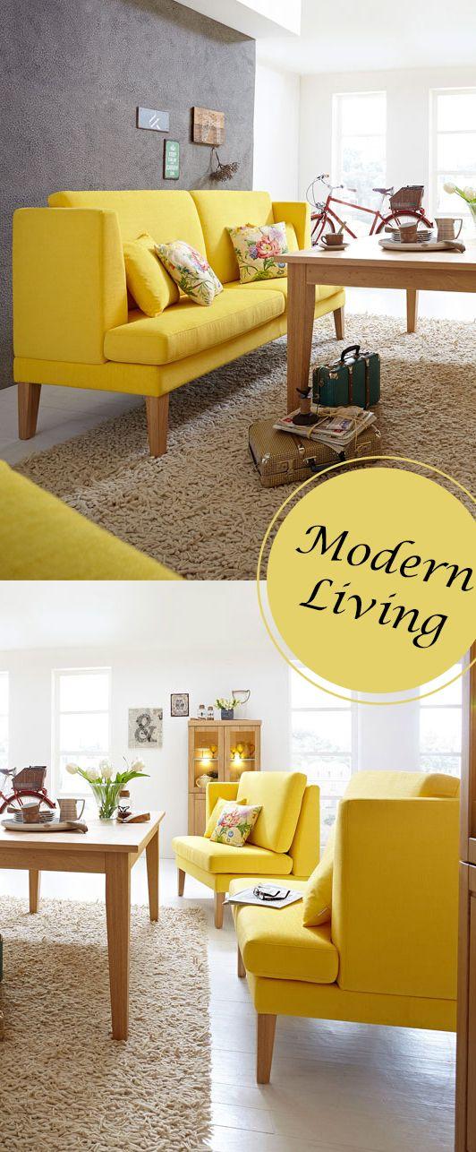 Modernes küchensofa blankenese in leuchtendem gelb liegt voll im trend und zieht gewiss alle blicke auf sich ☀ moebelletz