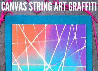 How to Make Canvas String Art Graffiti