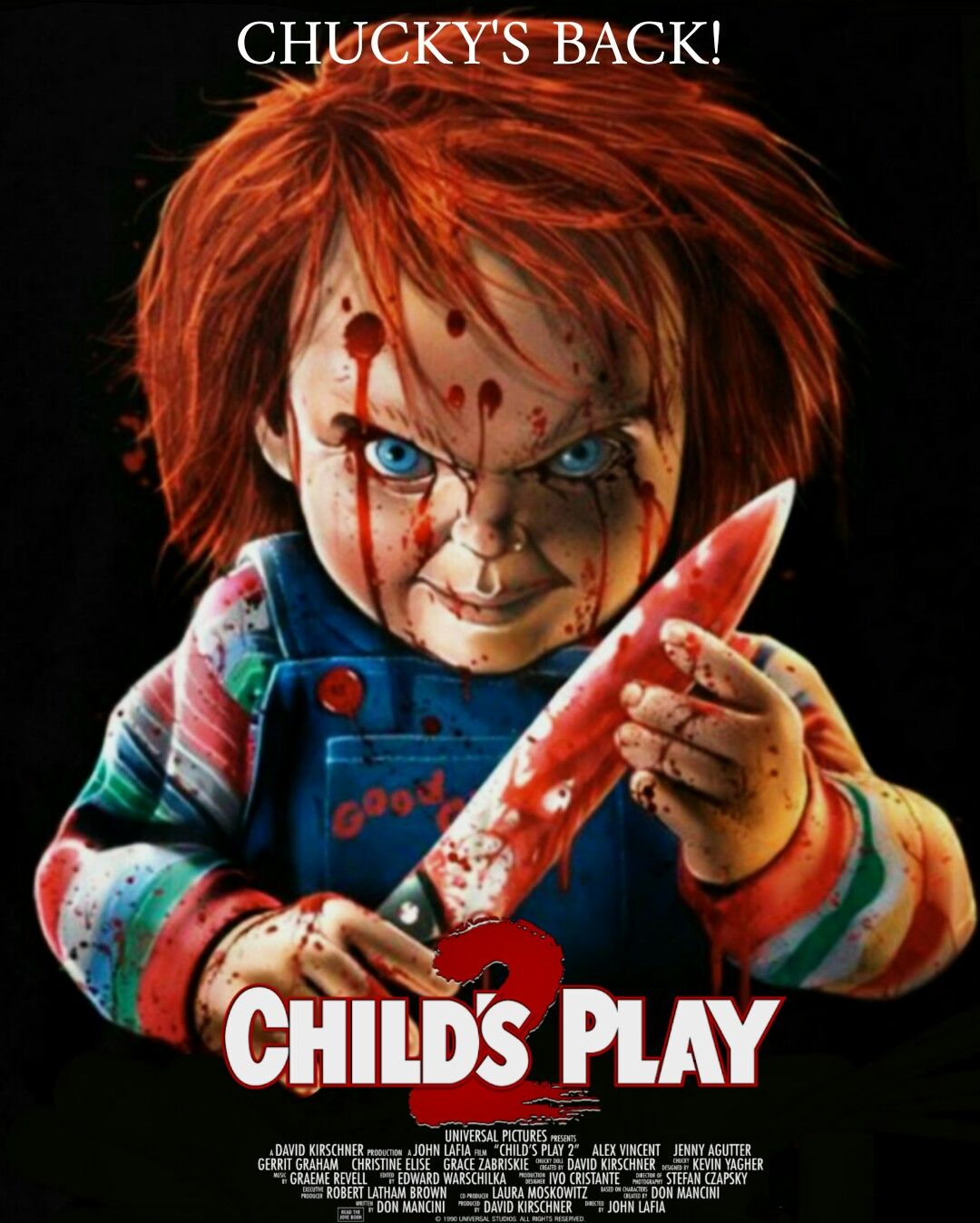 Child S Play 2 1990 Desing By Frightrags Scary Movies Horror Movie Characters Horror Characters