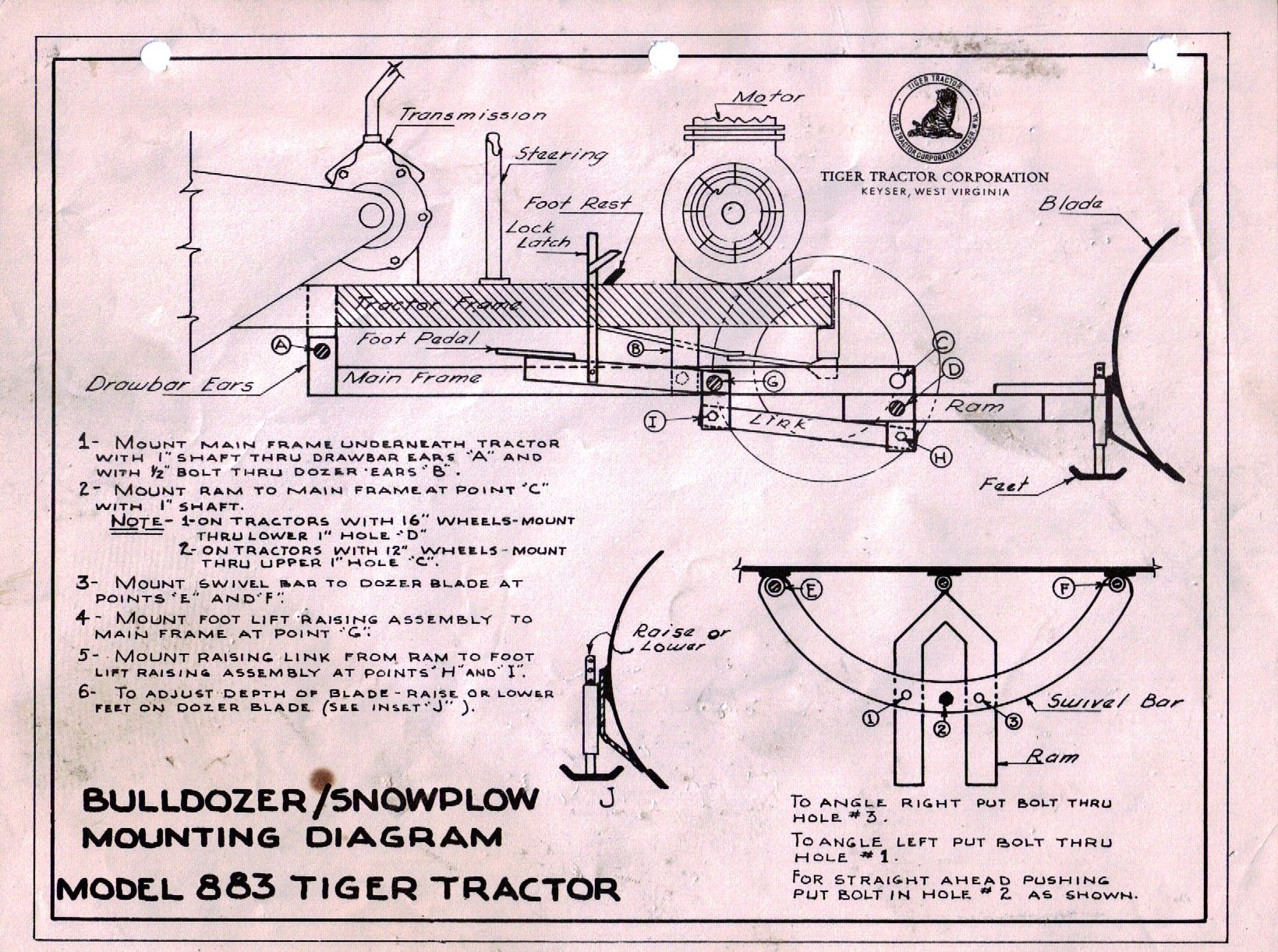 medium resolution of tiger bulldozer snowplow mounting diagram