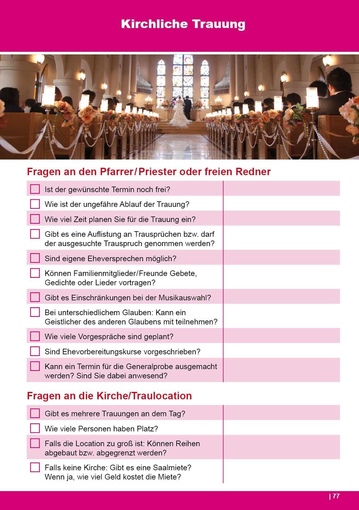 Das Hochzeitsbuch - 100 Hochzeit Checklisten für die Planung ...