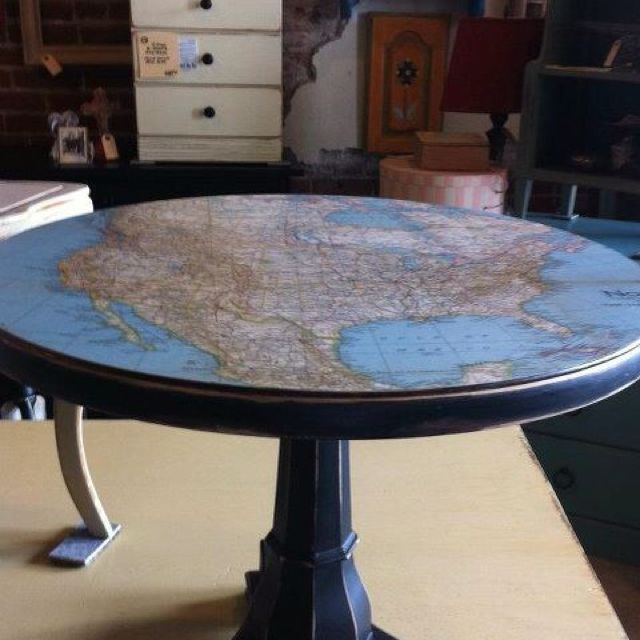 Table Top Decoupage How to Redesign with Mod Podge Assignments