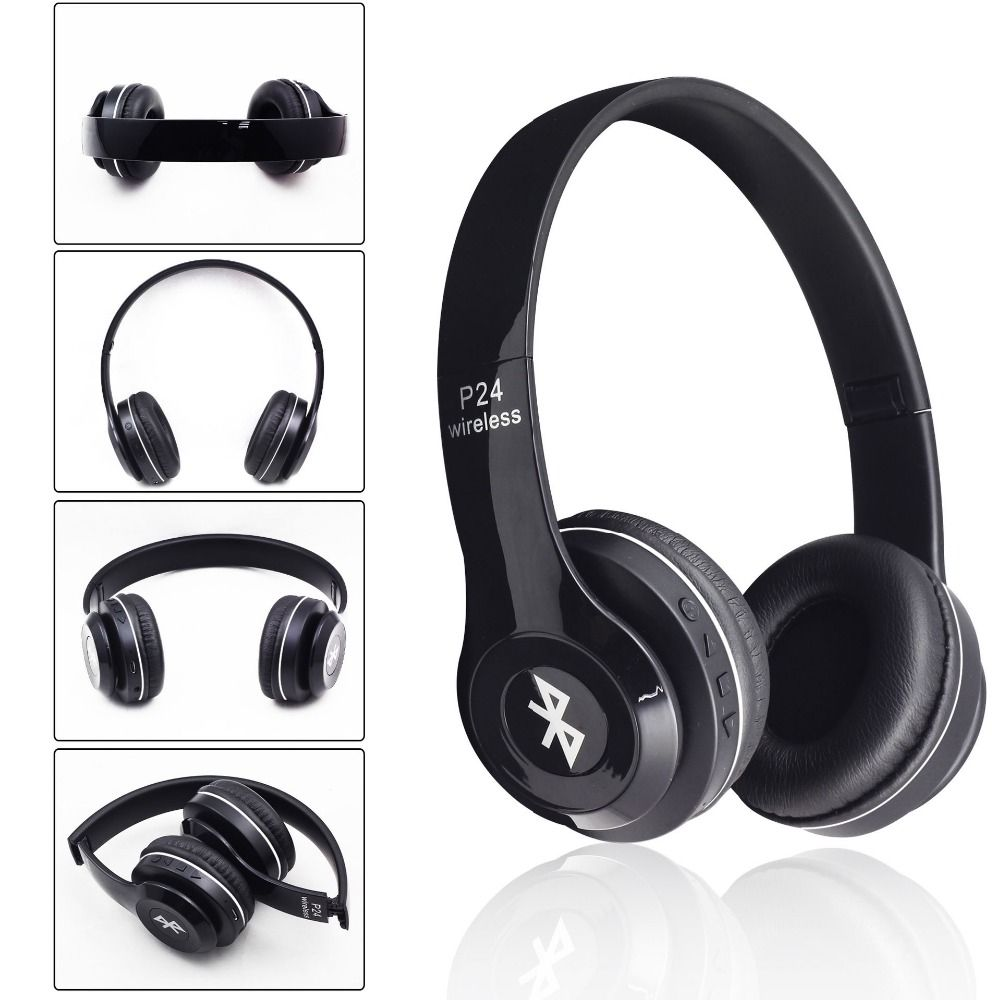 Find More Earphones Headphones Information About P24 Bluetooth Headset Stereo Auriculares Wireless Bluetooth Ea Headphones Bass Headphones Headphone With Mic