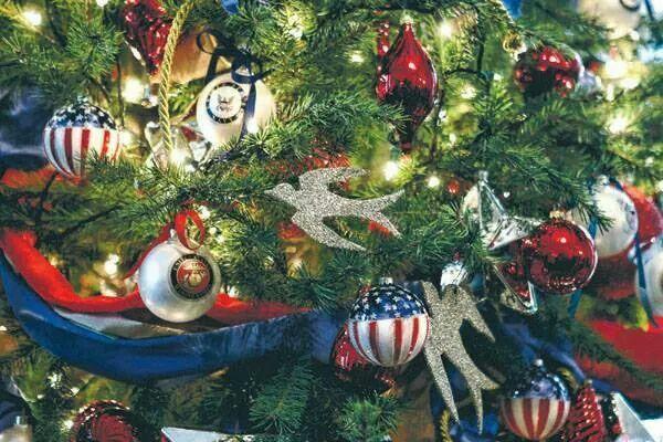 Americana Themed Christmas Tree Military Christmas Patriotic Christmas Tree Patriotic Christmas