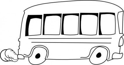 School Bus Outline Clip Art With Images Clip Art Free Clip