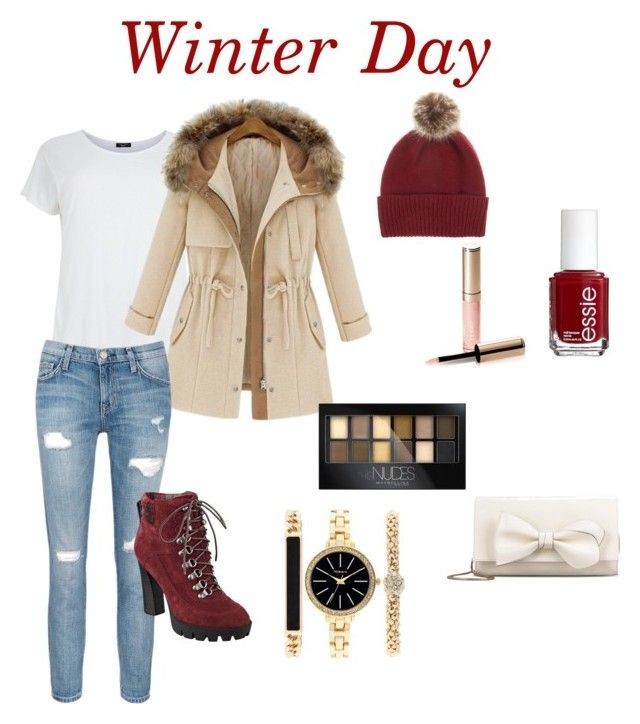 """Winter day"" by inspiration-m ❤ liked on Polyvore featuring Current/Elliott, Nine West, RED Valentino, Helen Moore, Style & Co., Maybelline, By Terry and Essie"