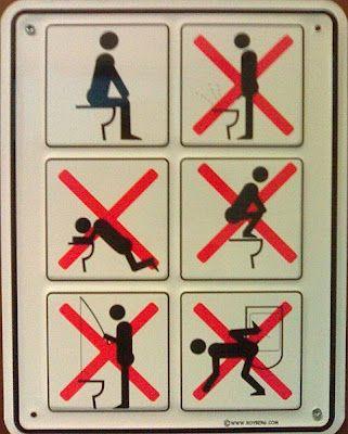 Public Toilet Manners Baños Signos Pinterest Manners Toilet - Public bathroom signs