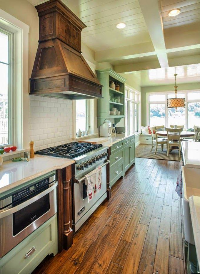 24 DIY Wooden Vent Hood | Kitchen renovation, Rustic ...