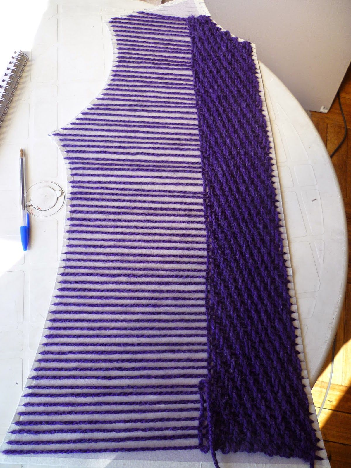 Ktog Knitting : This cardboard loom is a clothing pattern various pieces