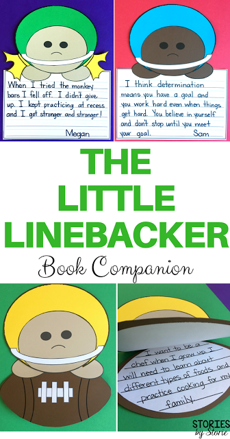 The Little Linebacker is a great book to read with your students when teaching about the importance of a growth mindset. After reading, students can create their own football player craft!