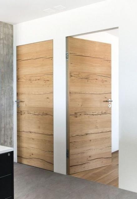 Natural Veneered Wooden Flush Door Design Mdf Living Room: Home Desng Ideas Exterior 23+ Ideas #exterior #home In