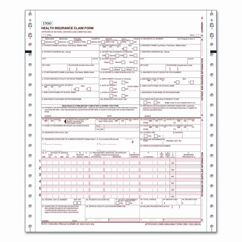 Cms Health Insurance Claim 1500 Lttr 2 Part 1500 Continuous