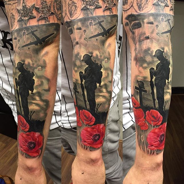 Instagram Photo By Rich Peel Tattoo Army Tattoos Tribute Tattoos Military Sleeve Tattoo