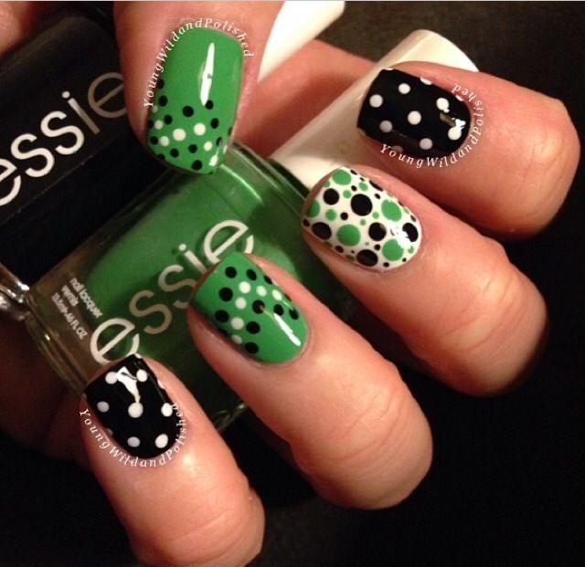 I love dots! | Nails | Pinterest | Manicuras, Arte uñas y Uñas lindas