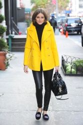 Olivia Palermo | Old Navy coat | Stubbs & Wootton Shoes