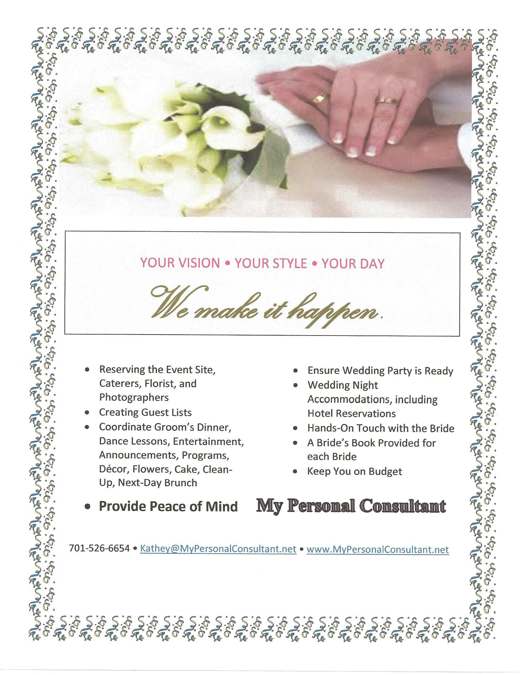 Let us help you have the day of your dreams