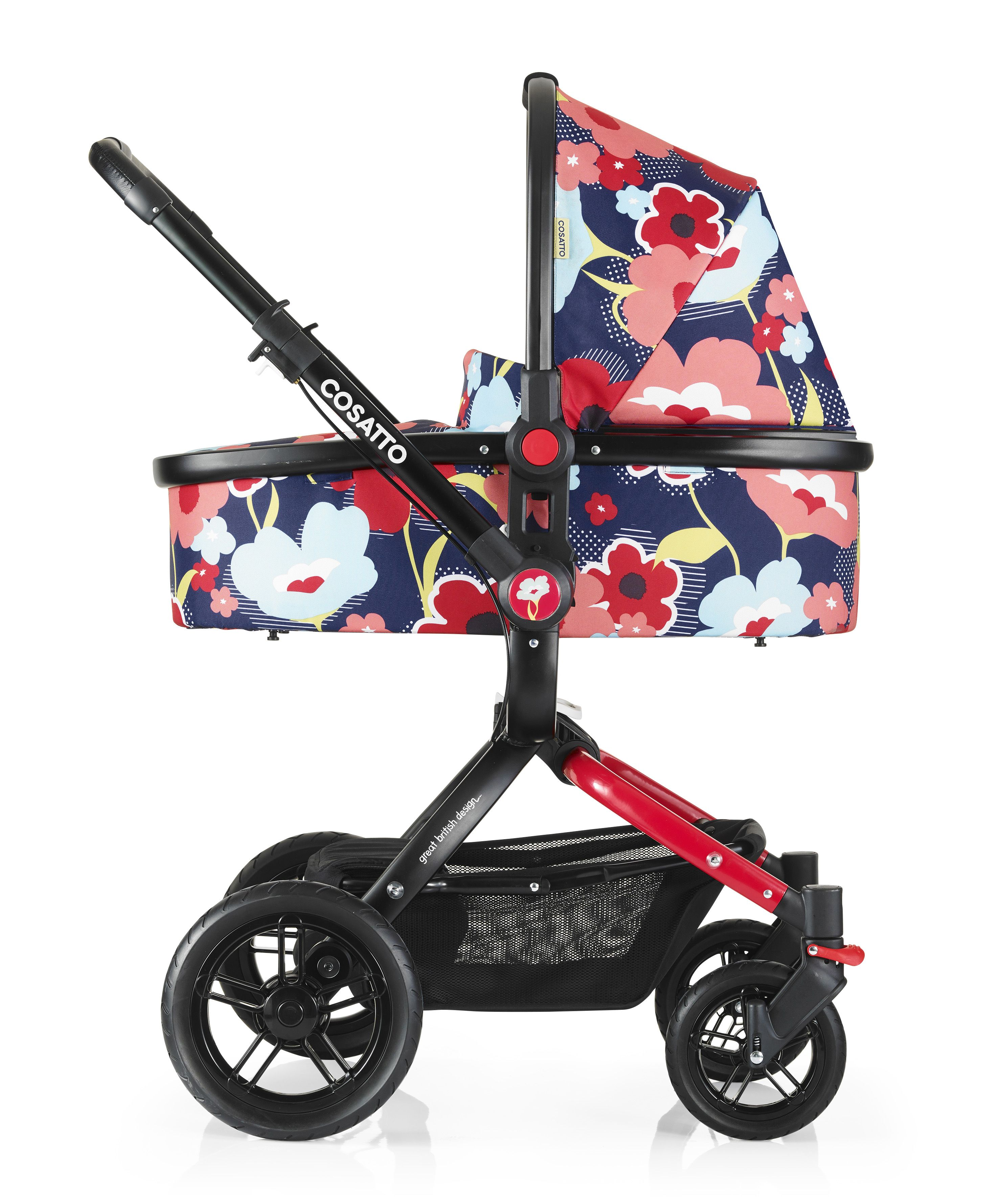 Ooba Proper Poppy travel system just escaped the city and grew multi terrain wheels Pram pushchair and infant carrier discover your posh go anywhere