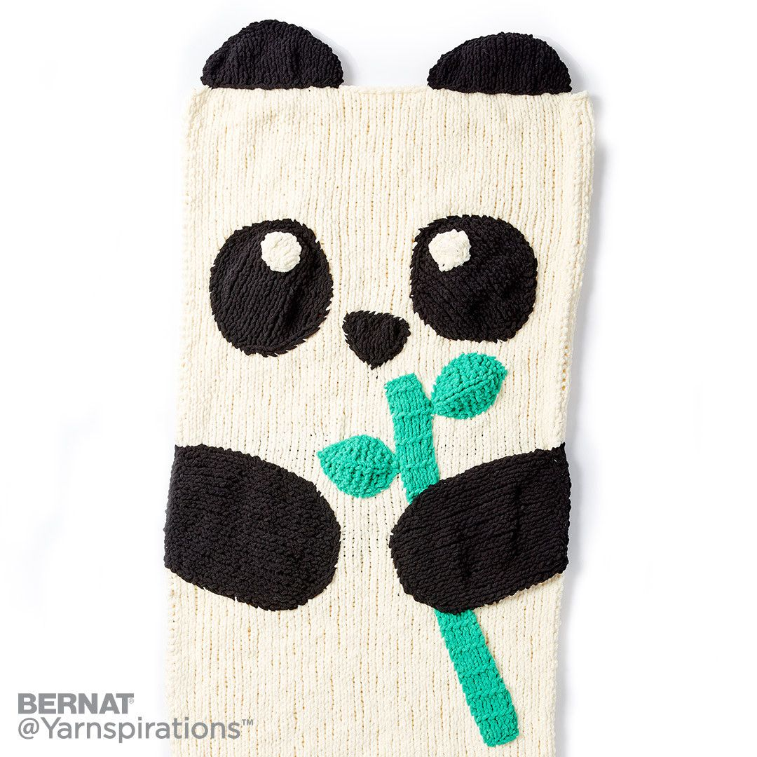 Knit Panda Bear Snuggle Sack | crocheted blankets | Pinterest