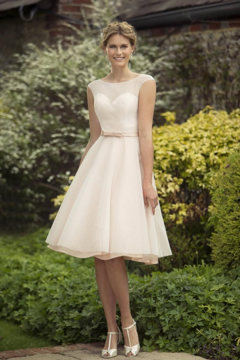M698 new to the true bridesmaid collection is this short for Tea length wedding dress tulle skirt