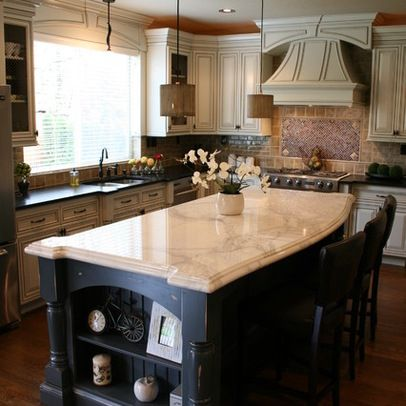 Different Color Kitchen Island, counters