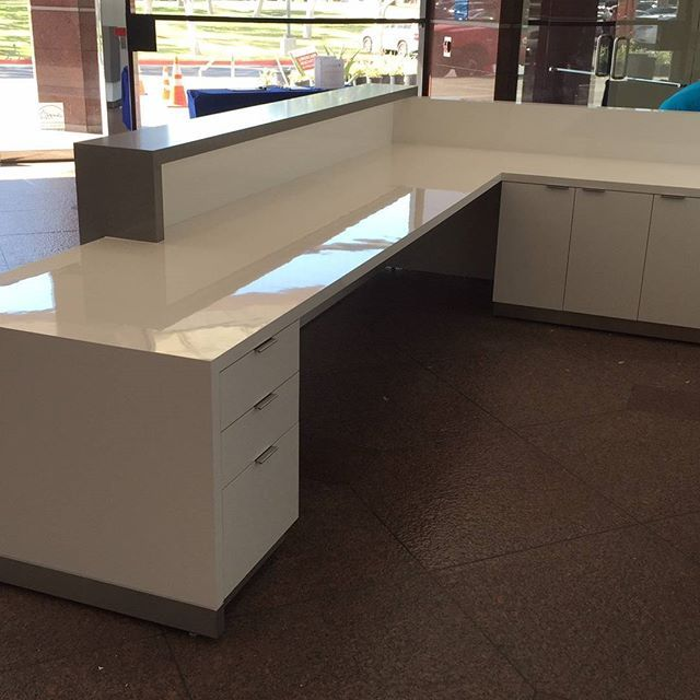 Reception Desk for Herbalife building in Torrance CA