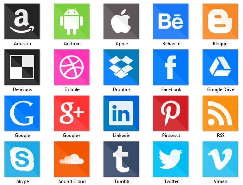 Ubicacion Marcador Logo Material De Imagen Creativo: Social Media Icons: Pack Con 150 Iconos Sociales 2015