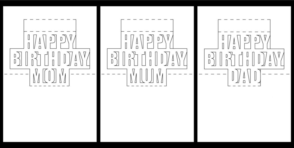 Happy Birthday Pop Up Card Free Template In 2021 Pop Up Card Templates Valentines Card Design Birthday Card Template