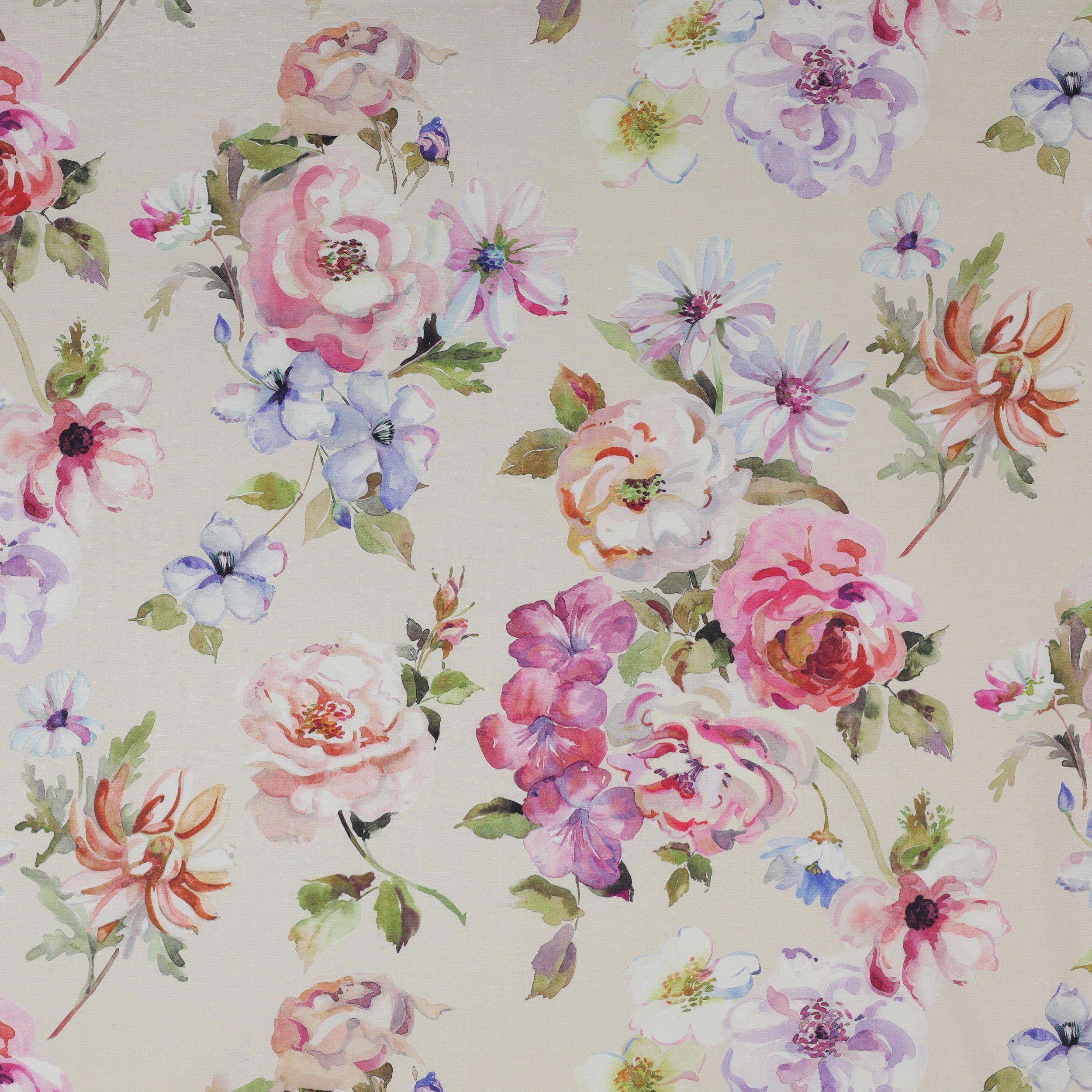 Mayflower Fabric Jane Churchill Floral Art Floral Prints Pattern Watercolor Pattern