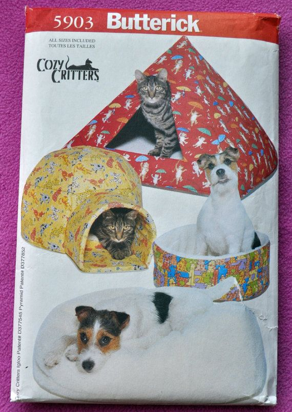 Butterick 5903 - Adorable Pet Beds for Cats & Dogs - Igloo, Pyramid ...