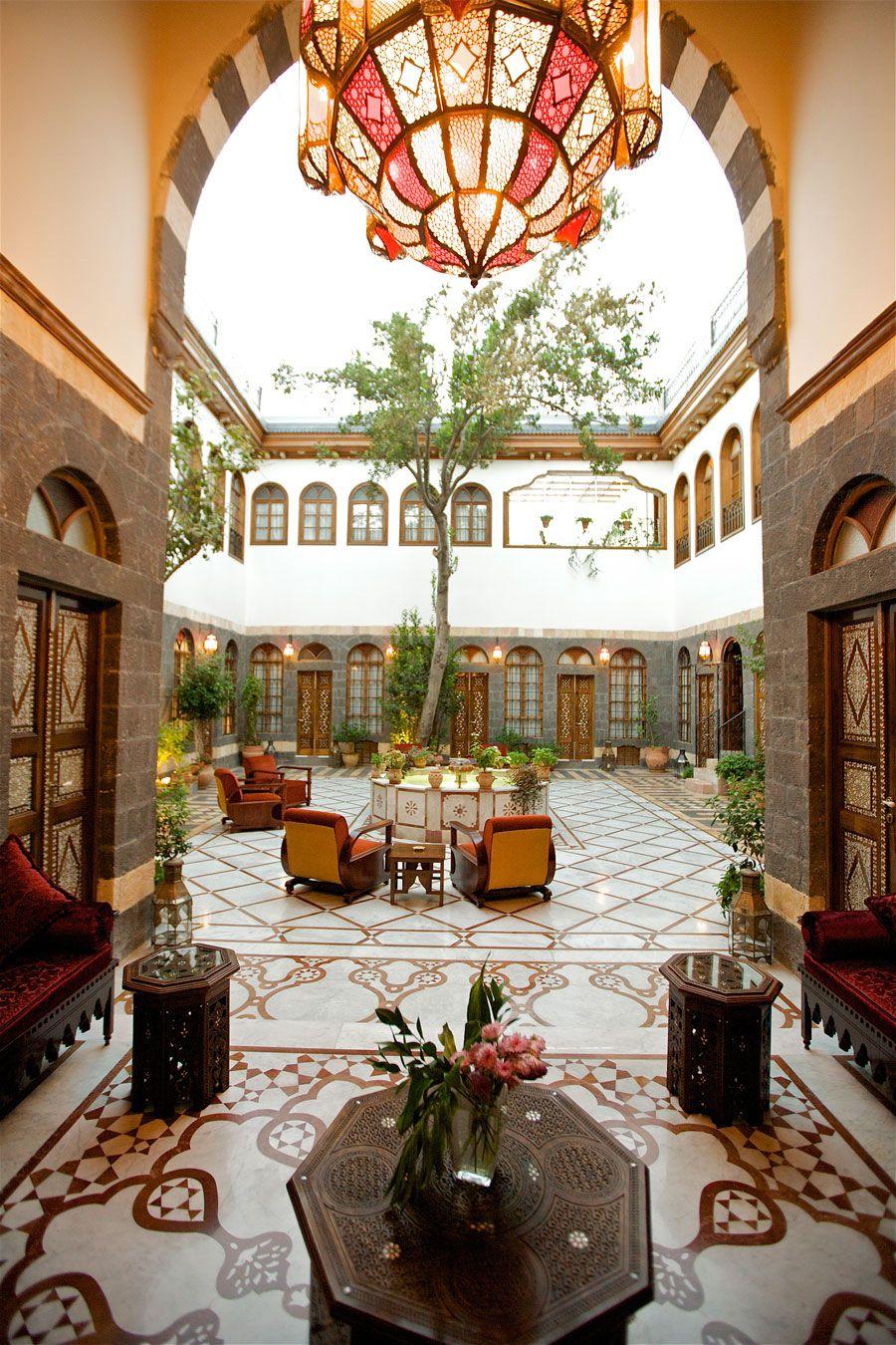 the liwan beit zafran hotel de charme damascus syria. Black Bedroom Furniture Sets. Home Design Ideas