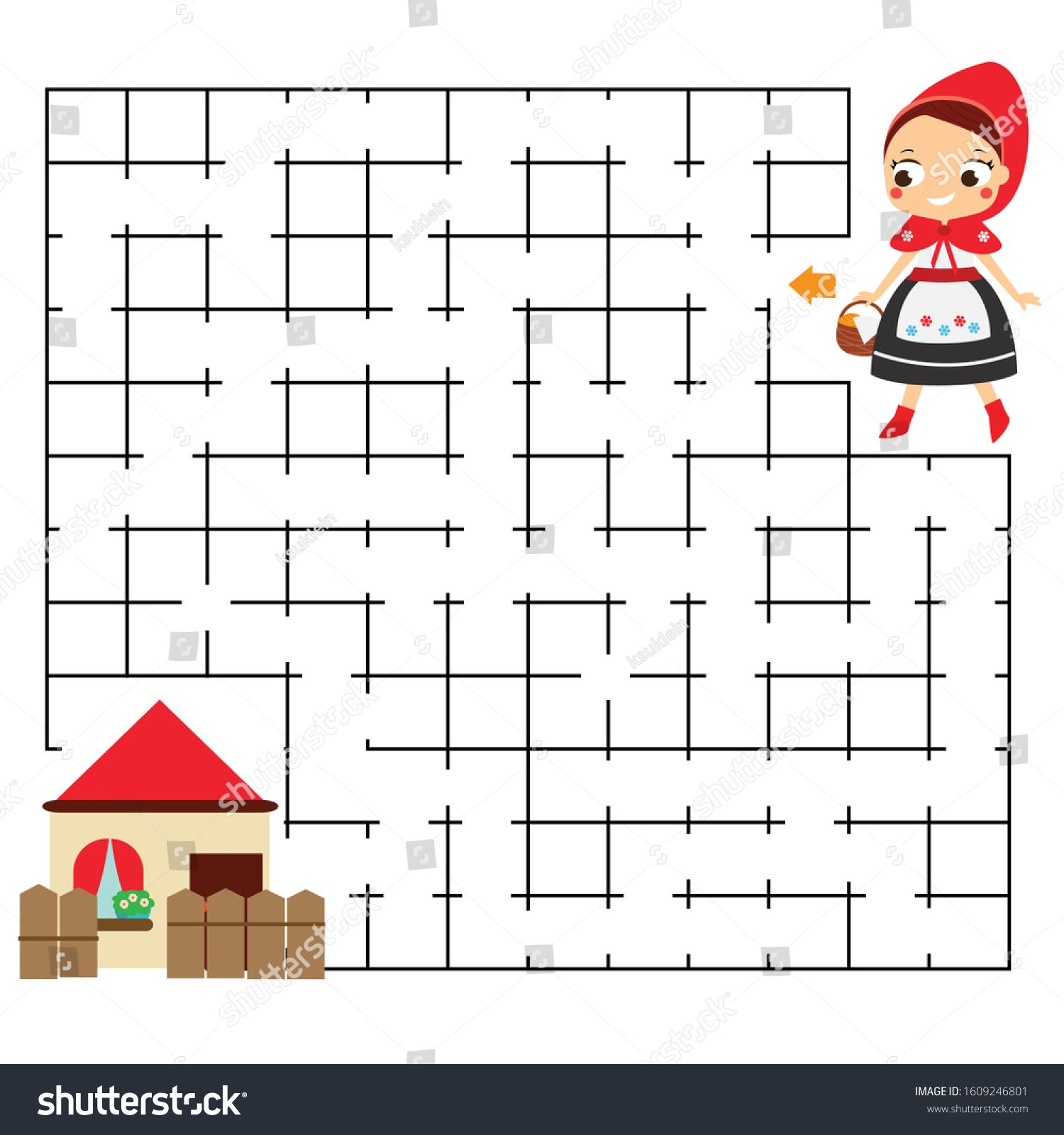 Maze Puzzle Help Red Riding Hood Find Home Activity For