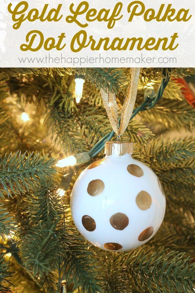 Easy DIY Polka Dot Ornament