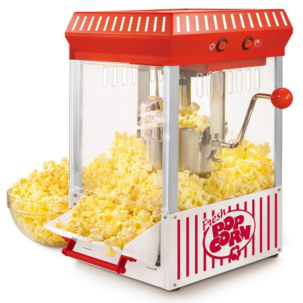 Nostalgia Vintage Collection Kettle Popcorn Maker, Red