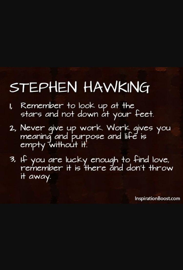 Stephen hawking quote just relax pinterest stephen - Design zitate ...