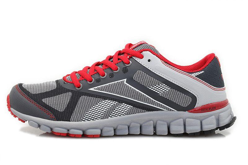 Reebok RealFlex Running Shoes White Grey At Men,reasonable