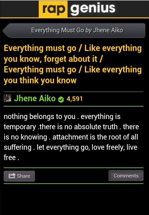 Everything Must Go Jhené Aiko Let Everything Go Love Freely