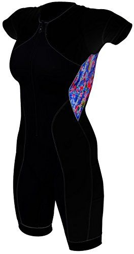 81c76089ddf DeSoto Womens Riviera Sleeved Tri Suit BlackWatercolor Small     Read more  at the image link.