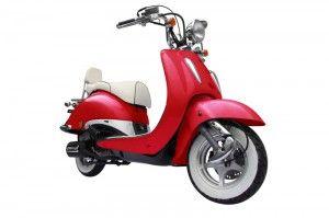Techno Classic Retro Roller 50ccm Rot Retro Roller Motorroller Roller