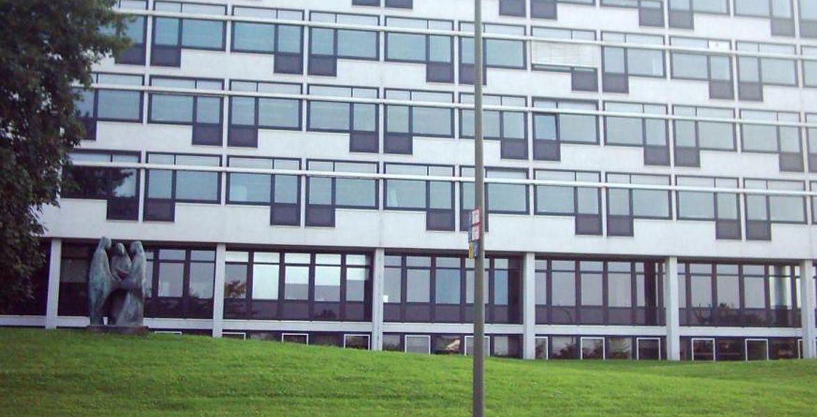 """Fachhochschule Südwestfalen - Standort Hagen """"Märkisch2g"""" von www.hagenmedia.net - Eigenes Werk. Lizenziert unter Public domain über Wikimedia Commons."""