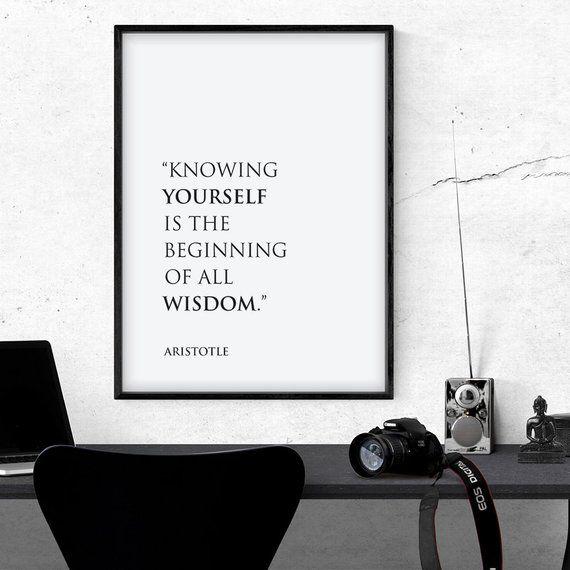 Greek Philosophy Wall Art, Wise Printable Aristotle Quote ...