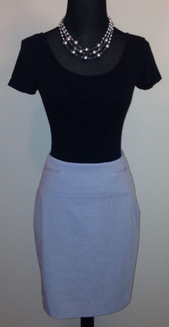 Express Light Gray Skirt: $15.00