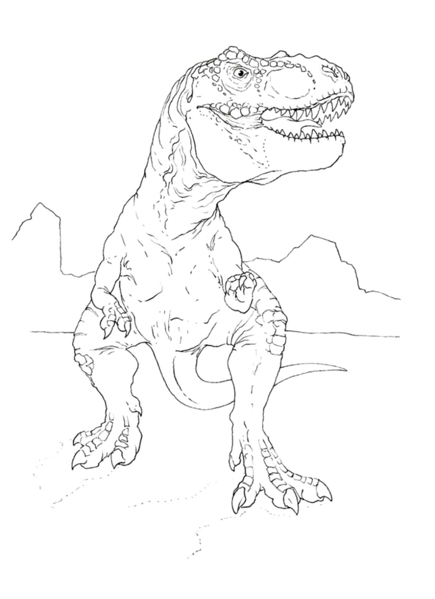 Dino Rex Malvorlage