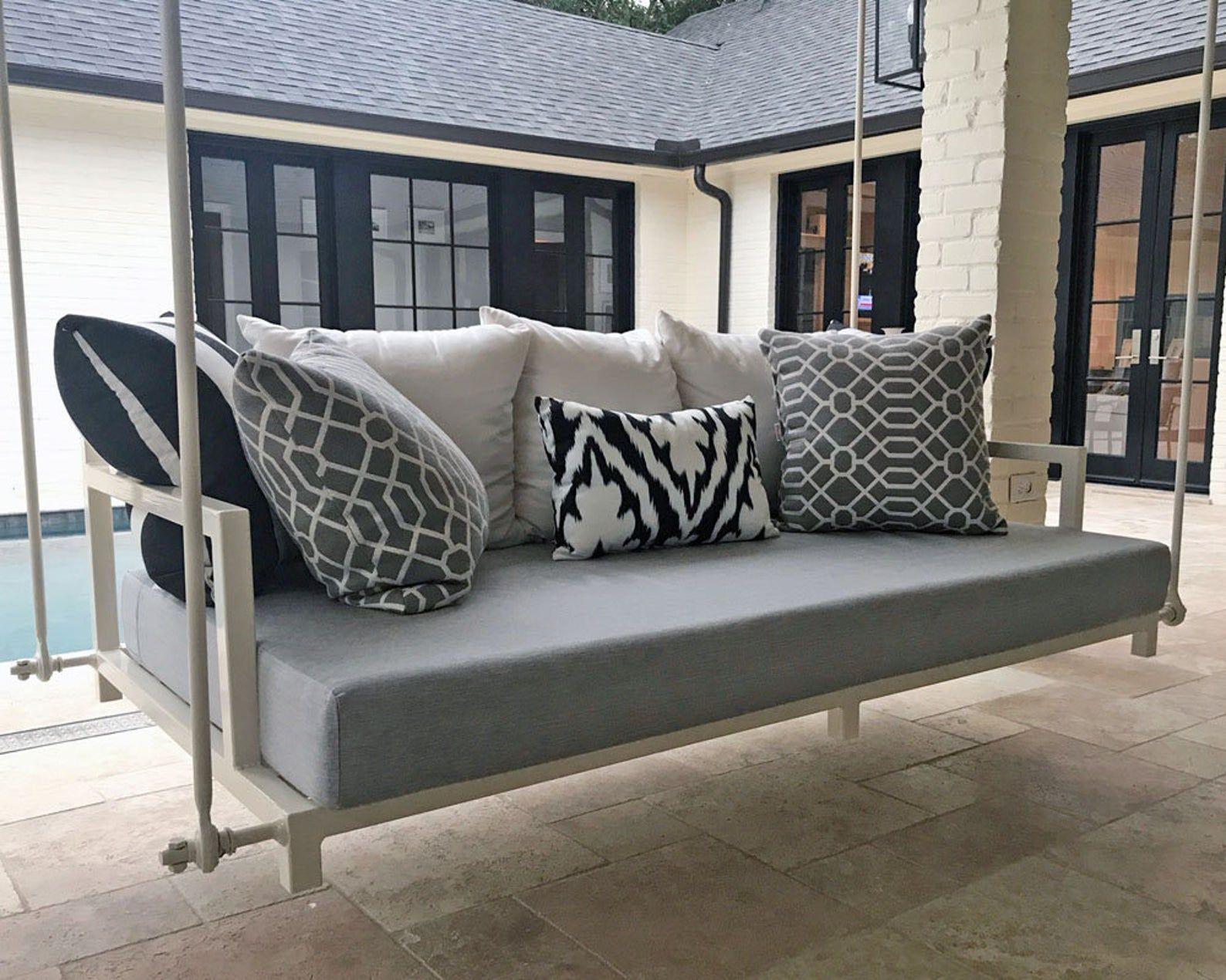 Sunbrella Custom Daybed Cushion Full Bed Double Bed Etsy Daybed Outdoor Swing Sunbrella Custom In 2020 Outdoor Daybed Cushion Daybed Cushion Porch Swing Cushions