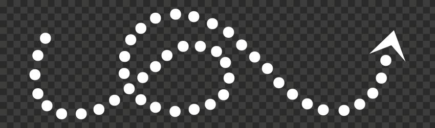 White Curved Dotted Arrow Line Art Point Up Arrow Line Line Art Art