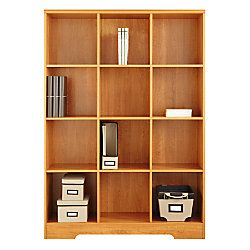 Reale Magellan 12 Cube Bookcase 63 916 H X 46 110 W 15 58 D Honey Maple By Office Depot Officemax