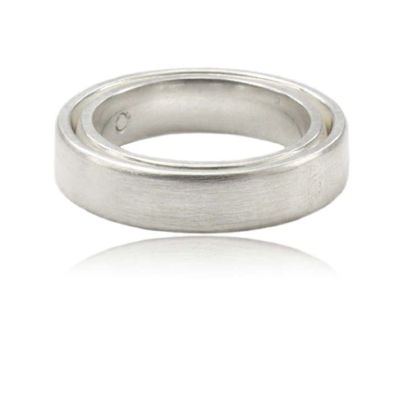 Silber Mehrfachring wir arbeiten zwei Ringe ineinander