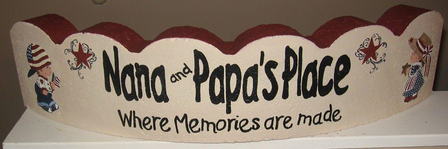 Painted Paver Nana & Papa Place Where Memories Are Made #patiodepapas