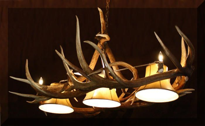 Antler Chandelier For Basement Cool Basement Lighting Ideas - Antler pool table light